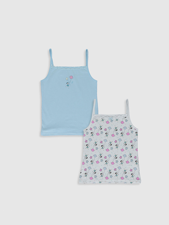 Mavi Kız Çocuk Atlet 2'li 0S7375Z4 LC Waikiki