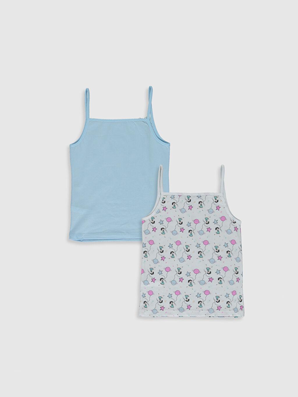 %100 Pamuk U Yaka Süprem Askılı İç Giyim Atlet Standart Kız Çocuk Atlet 2'li