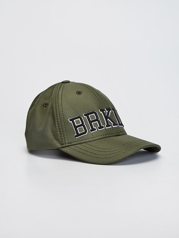 Haki Erkek Çocuk Yazı Nakışlı Şapka 0S7668Z4 LC Waikiki