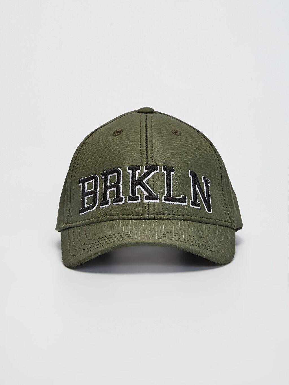 %100 Polyester %100 Polyester  Erkek Çocuk Yazı Nakışlı Şapka