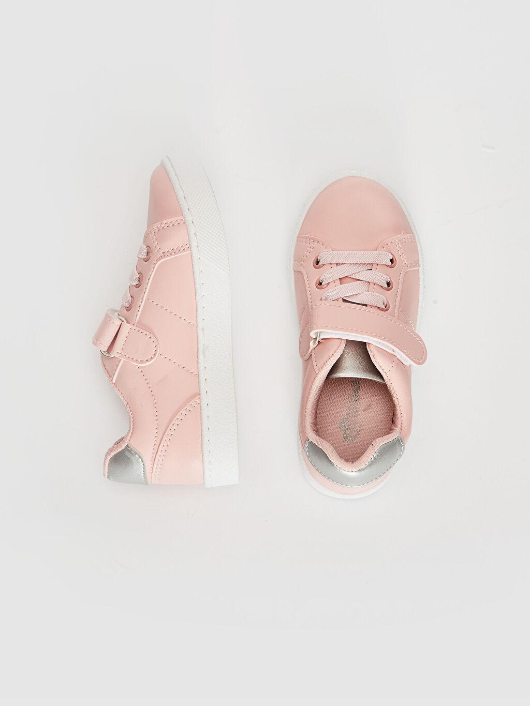 %0 Diğer malzeme (pvc) Polyester Astar Bağcık Işıksız Sneaker Kız Çocuk 25-30 Numara Cırt Cırtlı Günlük Ayakkabı