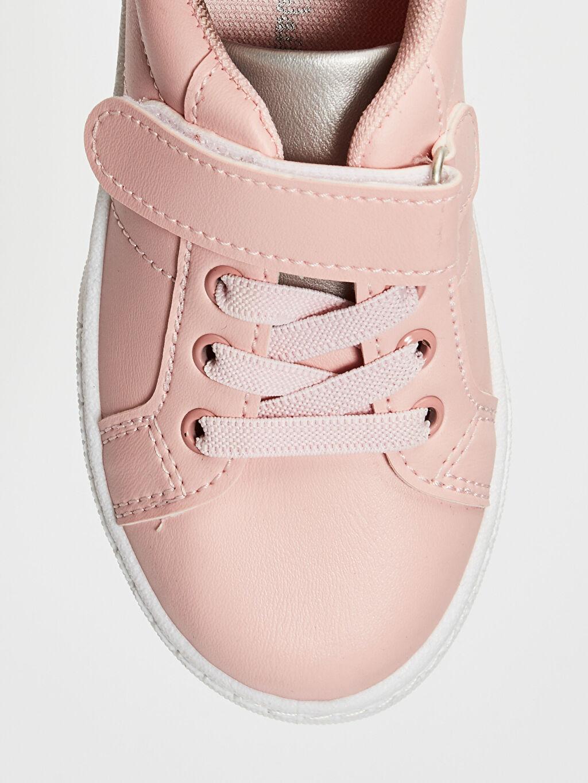 LC Waikiki Pembe Kız Çocuk 25-30 Numara Cırt Cırtlı Günlük Ayakkabı