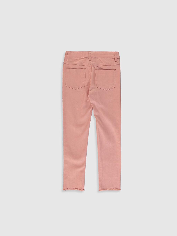 %97 Pamuk %3 Elastan Normal Bel Standart Kız Çocuk Slim Gabardin Pantolon