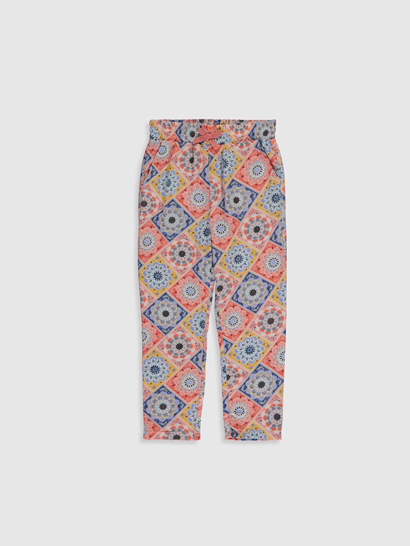Turuncu Kız Çocuk Viskon Pantolon 0S8261Z4 LC Waikiki