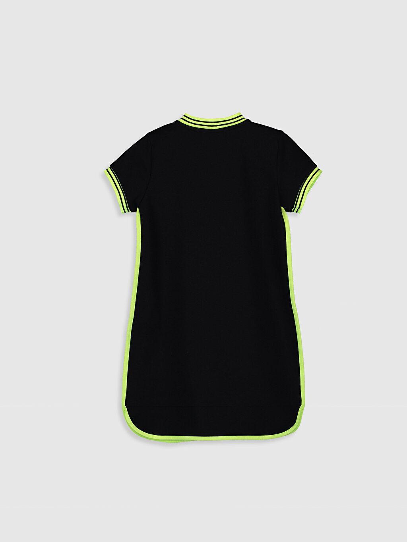 %72 Pamuk %28 Polyester Düz Süprem Elbise Diz Üstü Orta Kalınlık Kısa Kol Kız Çocuk Kısa Kollu Elbise