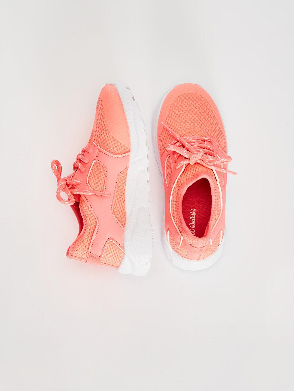 %0 Diğer malzeme (poliüretan) %0 Tekstil malzemeleri (%100 poliester)  Kız Çocuk Bağcıklı Günlük Spor Ayakkabı
