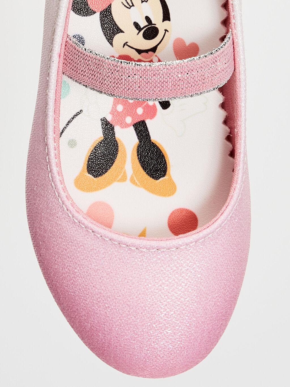 LC Waikiki Pembe Kız Çocuk Minnie Mouse Babet Ayakkabı