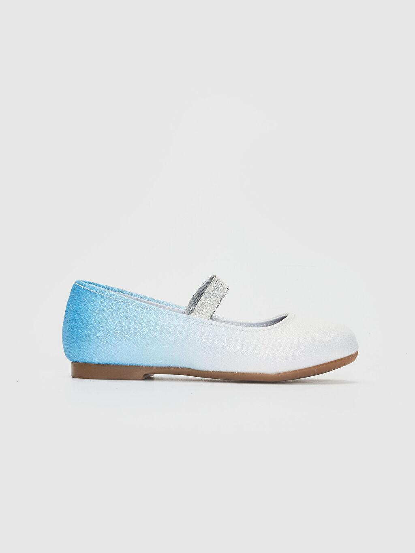 Mavi Kız Çocuk Frozen Baskılı Babet Ayakkabı 0S8828Z4 LC Waikiki