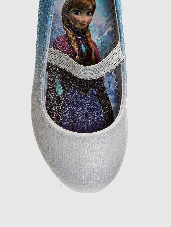 LC Waikiki Mavi Kız Çocuk Frozen Baskılı Babet Ayakkabı
