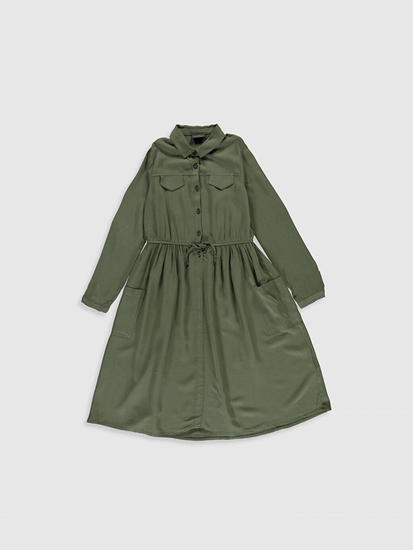 Haki Kız Çocuk Viskon Elbise 0S8845Z4 LC Waikiki