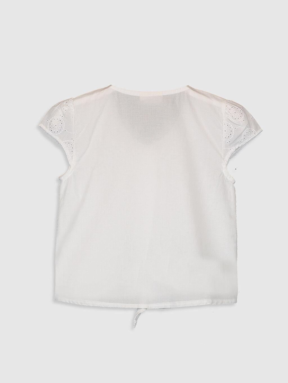 %100 Pamuk %100 Pamuk  Kız Çocuk Fisto Detaylı Pamuklu Gömlek