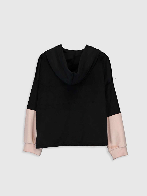 %94 Polyester %6 Elastan  Kız Çocuk Baskılı Sweatshirt