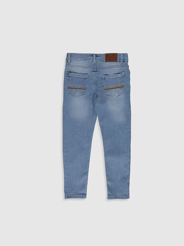 %99 Pamuk %1 Elastan Normal Bel Astarsız Dar Jean Aksesuarsız Erkek Çocuk Skinny Jean Pantolon