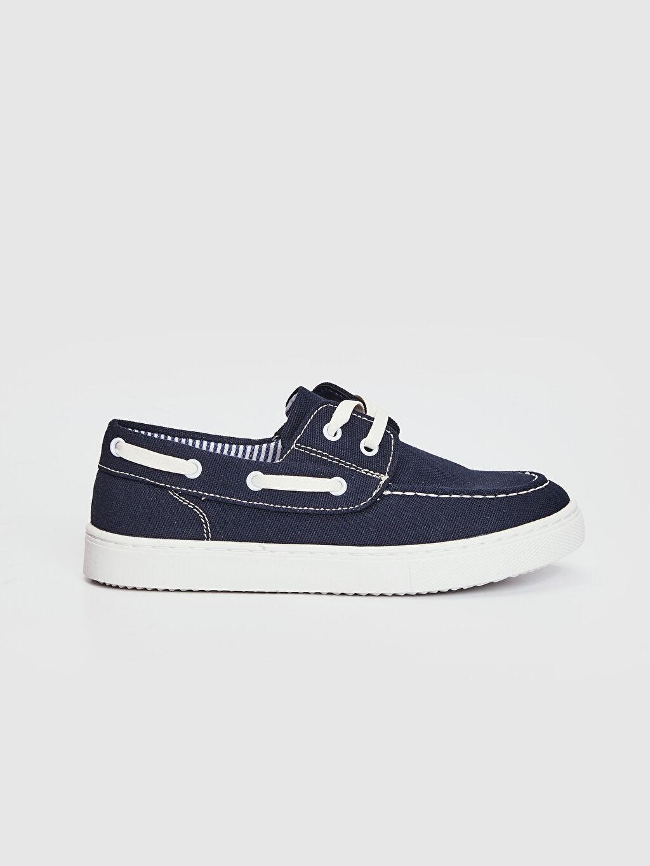 %0 Tekstil malzemeleri (%56 pamuk,%35 poliester,%9 viskoz) Bağcık Işıksız Klasik Ayakkabı Erkek Çocuk 25-30 Numara Bağcıklı Bez Ayakkabı