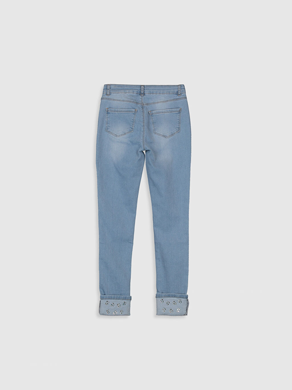 %98 Pamuk %2 Elastan Normal Bel Dar Kız Çocuk Skinny Jean Pantolon