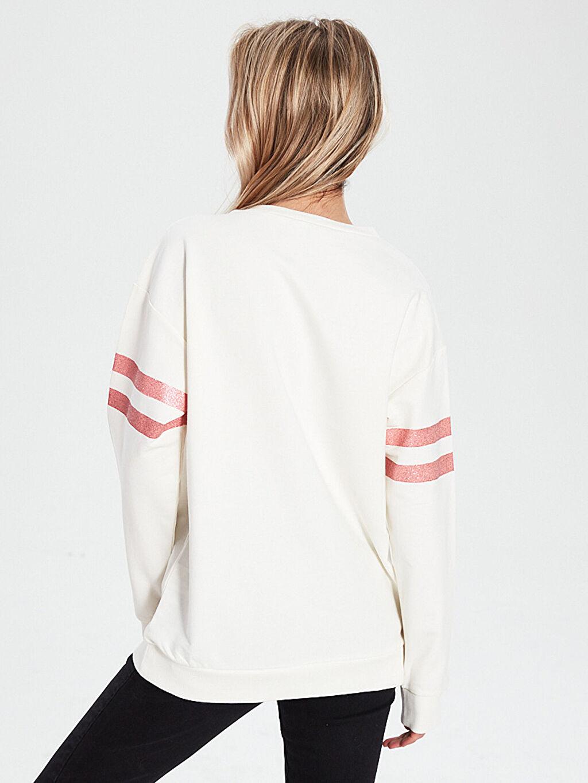 Kadın Slogan Baskılı Sweatshirt