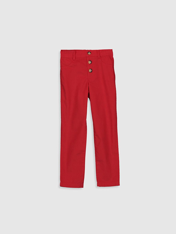 Kırmızı Kız Çocuk Pamuklu Pantolon 0SH685Z4 LC Waikiki