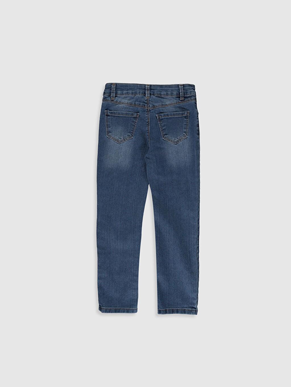 %84 Pamuk %14 Polyester %2 Elastan Normal Bel Standart Kız Çocuk Boyfriend Jean Pantolon
