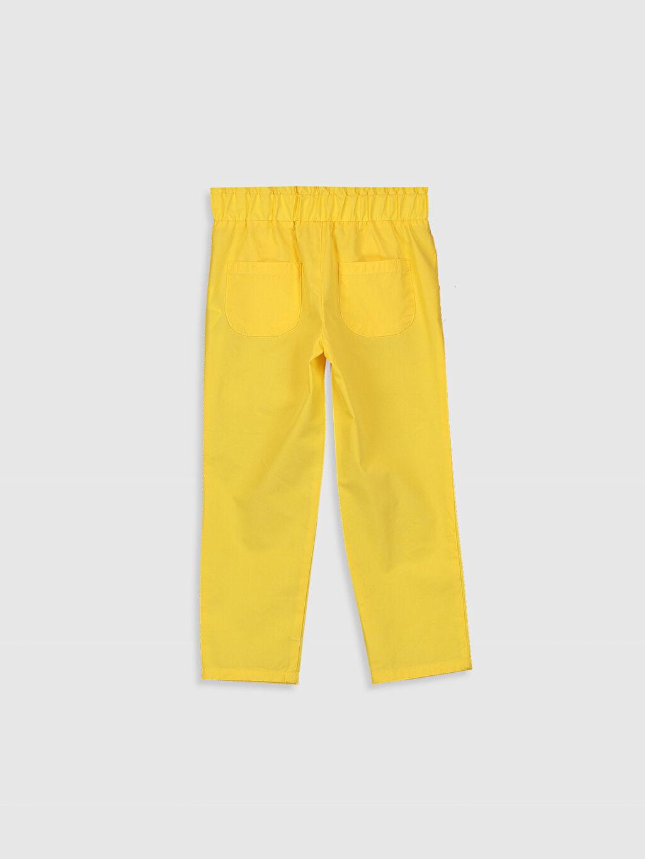 %100 Pamuk Normal Bel Standart Kız Çocuk Fiyonk Detaylı Pamuklu Pantolon