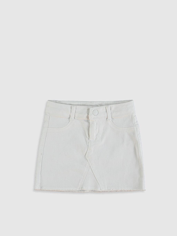 Beyaz Kız Çocuk Pamuklu Düz Etek 0SI897Z4 LC Waikiki