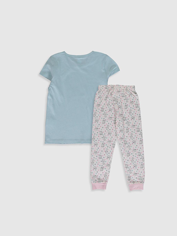 %100 Pamuk Standart Baskılı Pijama Takım Kız Çocuk Baskılı Organik Pamuklu Pijama Takımı