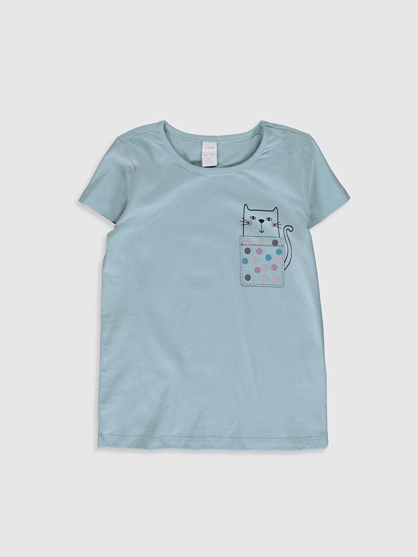 Kız Çocuk Kız Çocuk Baskılı Organik Pamuklu Pijama Takımı