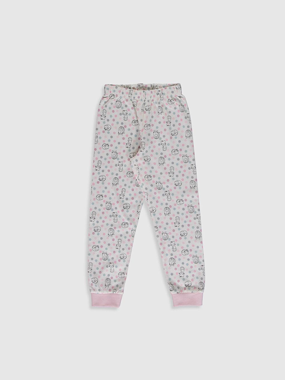 %100 Pamuk Kız Çocuk Baskılı Organik Pamuklu Pijama Takımı