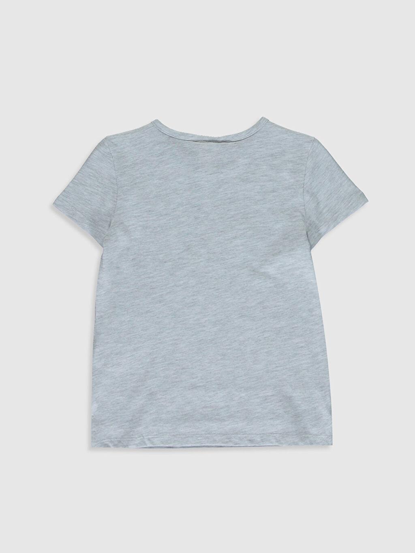 %60 Pamuk %40 Polyester Standart Baskılı Tişört Bisiklet Yaka Kısa Kol Kız Çocuk Baskılı Pamuklu Tişört