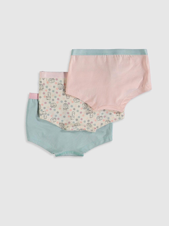 %95 Pamuk %5 Elastan İç Giyim Alt Standart Kız Çocuk Organik Pamuklu Boxer 3'lü