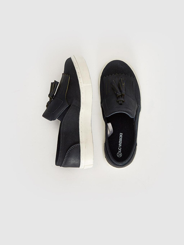 Diğer malzeme (pvc) Bağcıksız Işıksız Klasik Ayakkabı Erkek Çocuk Loafer Ayakkabı