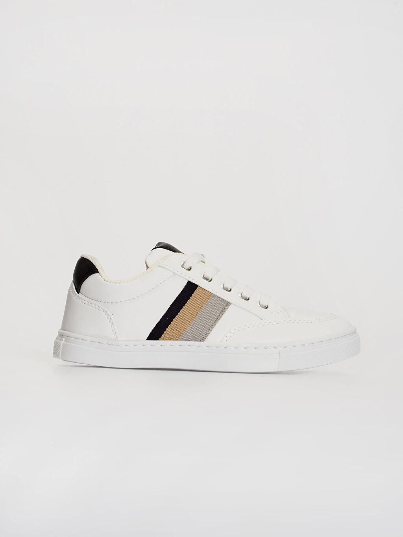 Beyaz Erkek Çocuk Bağcıklı Günlük Spor Ayakkabı 0SK102Z4 LC Waikiki
