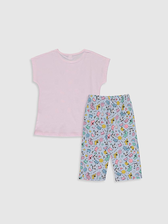 %100 Pamuk İnce Standart Pijama Takım Kısa Kol Süprem Kız Çocuk Baskılı Pamuklu Pijama Takımı