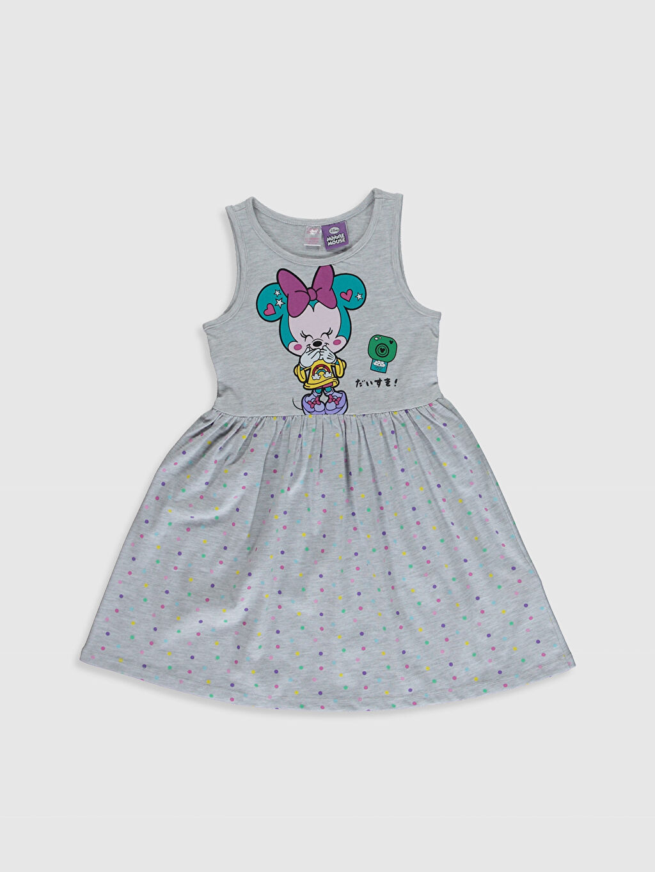 Gri Kız Çocuk Minnie Mouse Baskılı Gecelik 0SK493Z4 LC Waikiki