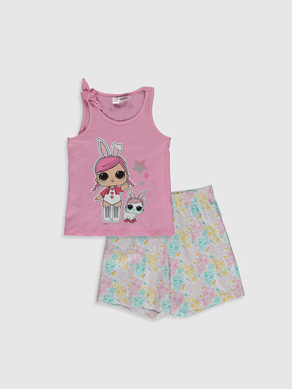 Pembe Kız Çocuk Lol Bebek Baskılı Pamuklu Pijama Takımı 0SK522Z4 LC Waikiki