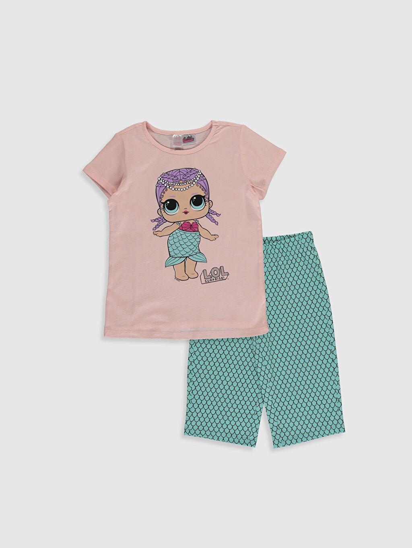 Pembe Kız Çocuk Lol Bebek Baskılı Pamuklu Pijama Takımı 0SK553Z4 LC Waikiki