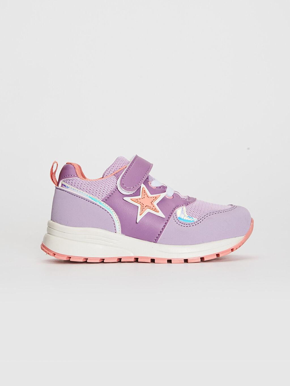Lila Kız Çocuk Cırt Cırtlı Günlük Ayakkabı 0SK912Z4 LC Waikiki