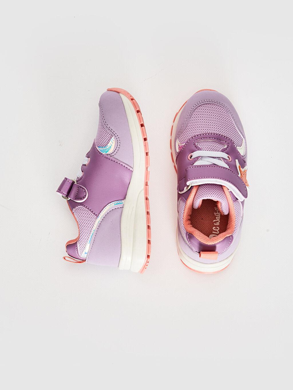 %0 Diğer malzeme (poliüretan) %0 Tekstil malzemeleri (%100 poliester)  Kız Çocuk Cırt Cırtlı Günlük Ayakkabı