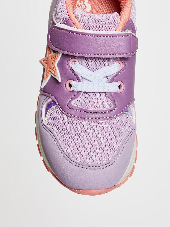 LC Waikiki Lila Kız Çocuk Cırt Cırtlı Günlük Ayakkabı