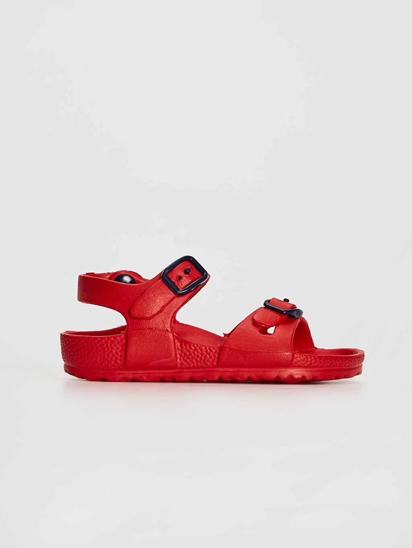 Kırmızı Erkek Çocuk Toka Detaylı Sandalet 0SL170Z4 LC Waikiki
