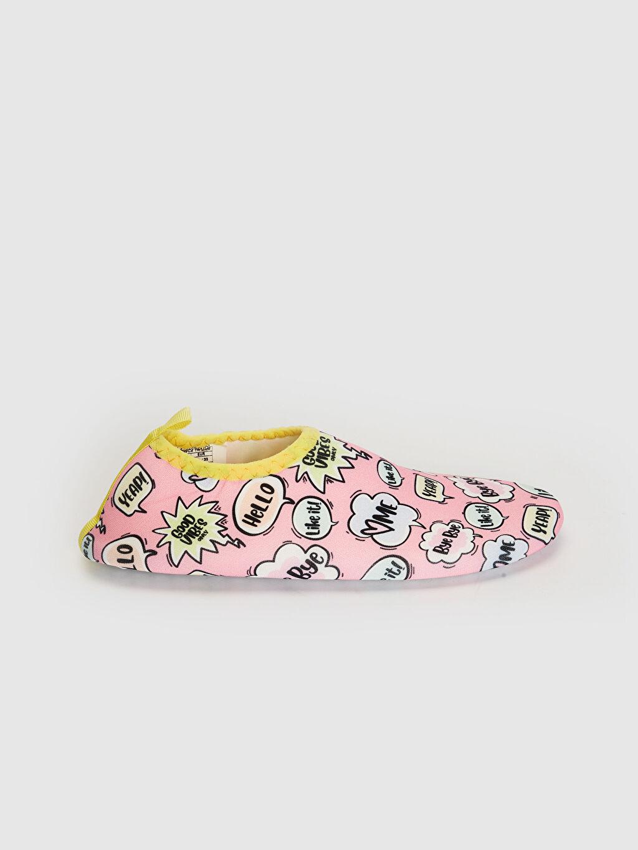 Pembe Kız Çocuk Baskılı Deniz Ayakkabısı 0SN889Z4 LC Waikiki