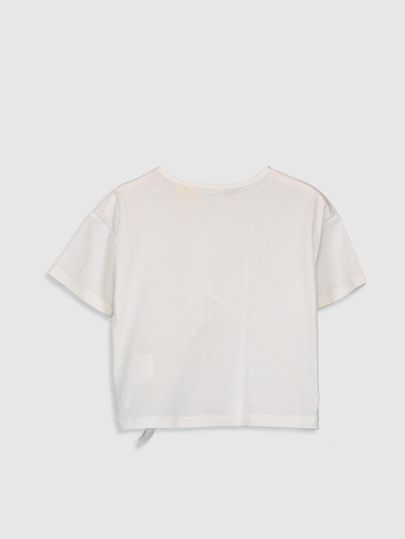 %100 Pamuk Standart Baskılı Tişört Bisiklet Yaka Kısa Kol Kız Çocuk Mickey Mouse Baskılı Pamuklu Tişört