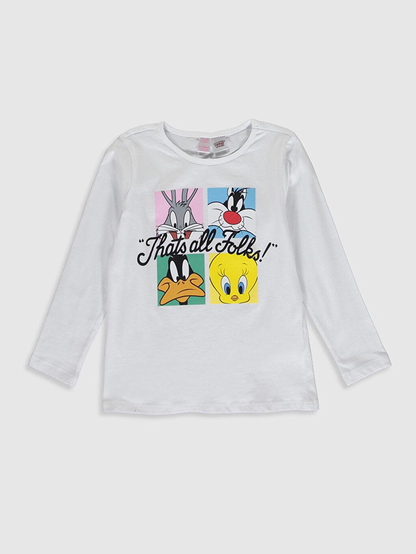 Kız Çocuk Kız Çocuk Looney Tunes Baskılı Pamuklu Pijama Takımı