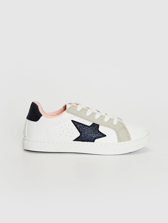 Beyaz Kız Çocuk Bağcıklı Sneaker 0SB255Z4 LC Waikiki