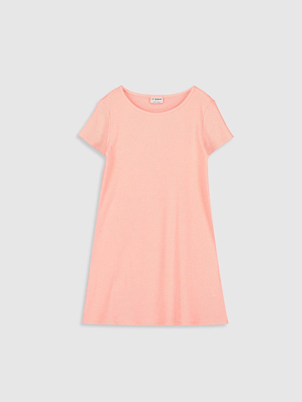 Turuncu Kız Çocuk Basic Elbise 0SB762Z4 LC Waikiki