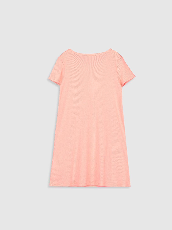 %51 Pamuk %46 Polyester %3 Elastan Düz Mini Kız Çocuk Basic Elbise