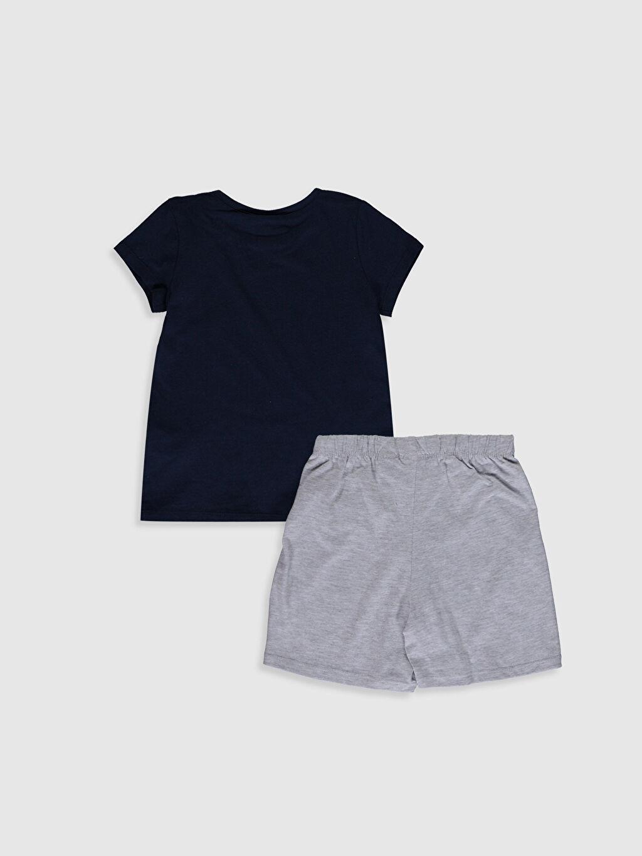 %100 Pamuk Kısa Kol Süprem Standart Pijama Takım Fenerbahçe Aile Koleksiyonu Kız Çocuk Fenerbahçe Amblemli Pamuklu Pijama Takımı