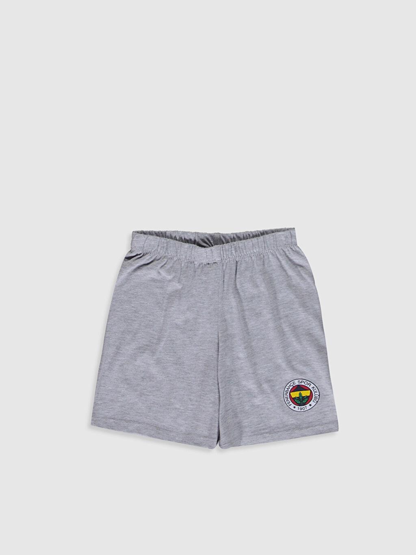 %100 Pamuk Aile Koleksiyonu Kız Çocuk Fenerbahçe Amblemli Pamuklu Pijama Takımı