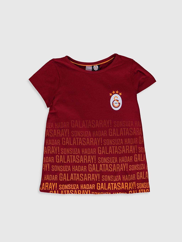 %100 Pamuk Kısa Kol Galatasaray Süprem Standart Pijama Takım Aile Koleksiyonu Kız Çocuk Galatasaray Amblemli Pamuklu Pijama Takımı