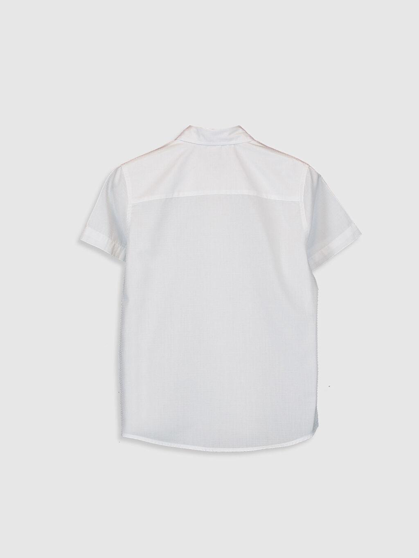 %60 Pamuk %40 Poliester %100 Pamuk Gömlek Standart Kısa Kol Düz Erkek Çocuk Desenli Pamuklu Gömlek