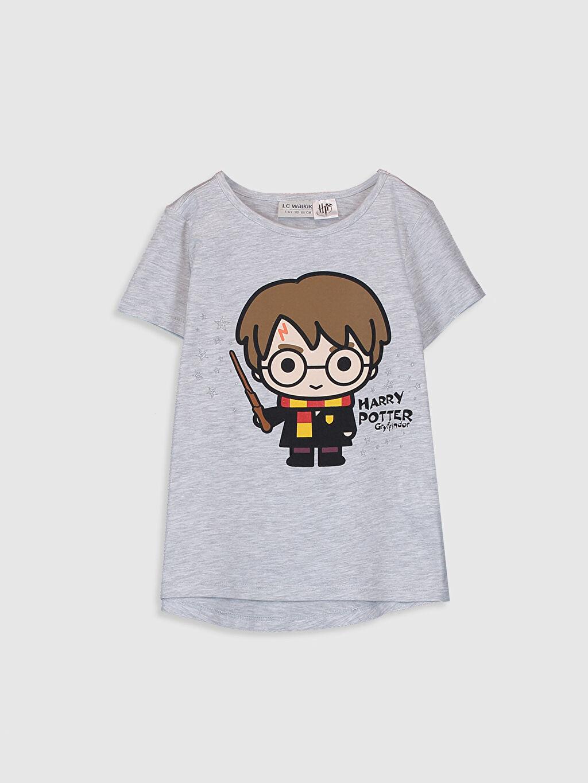 Gri Kız Çocuk Harry Potter Baskılı Tişört 0SD522Z4 LC Waikiki